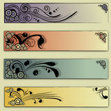 Floral vector backgrounds Royalty Free Stock Images