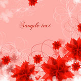 Floral vector banners Stock Photos