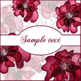 Floral vector banners. Greeting card in grunge or retro style. Design congratulation christmas vector royalty free illustration