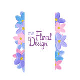 Floral vector border Royalty Free Stock Photo
