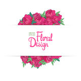 Floral vector border Royalty Free Stock Image