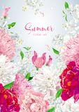 Floral vector brochure cover design template Stock Photo