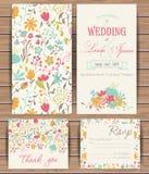 Floral vector card templates Stock Photo