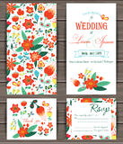 Floral vector card templates. Royalty Free Stock Photos