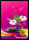 Floral vector composition Royalty Free Stock Photo