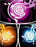 Floral vector composition Royalty Free Stock Images