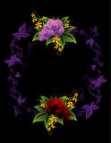 Floral vector composition Stock Image