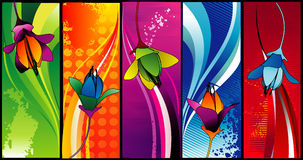 Floral vector composition Stock Images