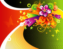 Floral vector composition Royalty Free Stock Photos