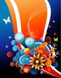 Floral vector composition Stock Photos