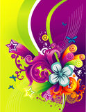 Floral vector composition Royalty Free Stock Image