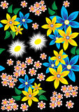 Floral vector design Stock Photography