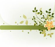 Floral vector design Royalty Free Stock Photography