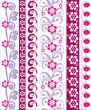 Floral vector design border Stock Image