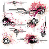 Floral Vector Elements Royalty Free Stock Images