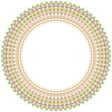 Floral Vector Fine Frame. Classic vector colorful round  frame with arabesques and orient elements. Abstract fine ornament with pastel colors Stock Image