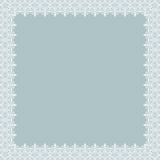 Floral Vector Fine Frame. Classic vector square frame with arabesques and orient elements. Abstract fine ornament with place for text. Light blue and white Royalty Free Stock Image