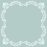 Floral Vector Fine Frame Royalty Free Stock Photo