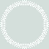 Floral Vector Fine Round Frame. Classic vector round frame with arabesques and orient elements. Abstract fine blue and white ornament Stock Photography