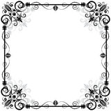 Floral vector frame Royalty Free Stock Photography