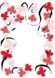 Floral vector frame Stock Image