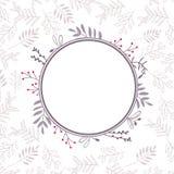 Floral vector frame Stock Images