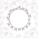 Floral vector frame Stock Photography