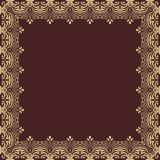 Floral Vector Frame. Abstract Golden Ornament Stock Images
