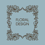 Floral  vector frame with copy space for text in Stock Photos
