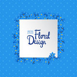 Floral vector frame Stock Image