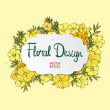 Floral vector frame Royalty Free Stock Images