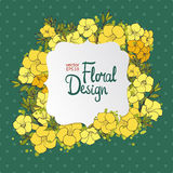 Floral vector frame Royalty Free Stock Photo