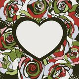 Floral vector heart Stock Photo