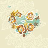 Floral vector heart Stock Images