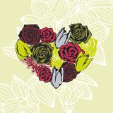 Floral vector heart Stock Photos