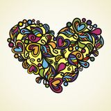 Floral vector heart Royalty Free Stock Photography