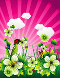 Floral vector illustration Stock Images