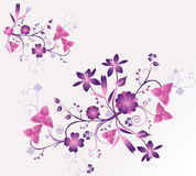Floral vector illustration. Nature abstract floral vector illustration composition Stock Photo