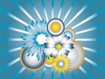 Floral vector illustration. Metallic beautiful floral vector illustration royalty free illustration