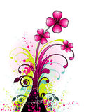 Floral vector illustration Royalty Free Stock Photos