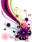 Floral vector illustration Royalty Free Stock Photography