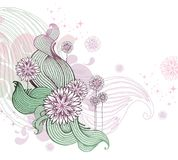Floral vector illustration Stock Photos