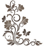 Floral vector illustration in sepia Stock Photos