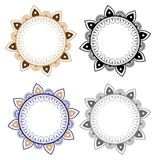 Floral Vector Mandala ornament. Oriental round pattern Stock Image
