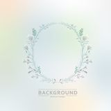 Floral vector ornament on blurred background eps Stock Photography