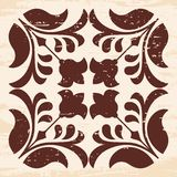 Vector floral ornament. Stock Image