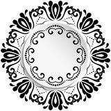 Floral Vector Ornament With Volume Place For Text Stock Images
