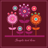 Floral vector pattern background Stock Images