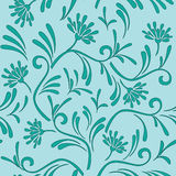 Floral vector pattern with color of celadon Royalty Free Stock Image
