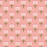 Floral vector pattern for fall fashion Stock Photography